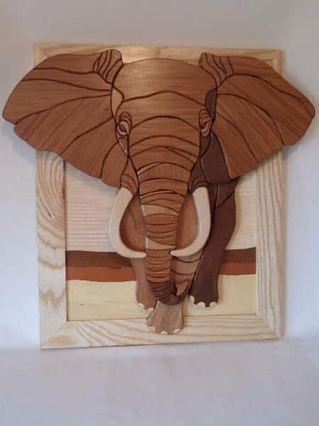 African Elephant Wall Art