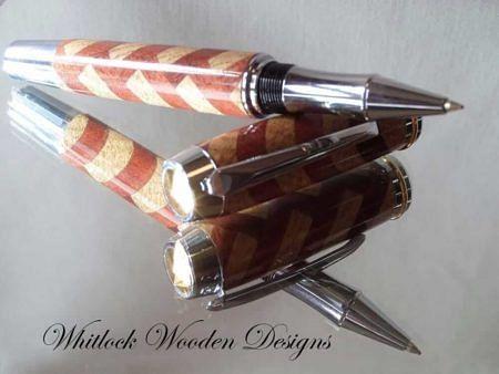 Rollerball Pen Herringbone Pattern