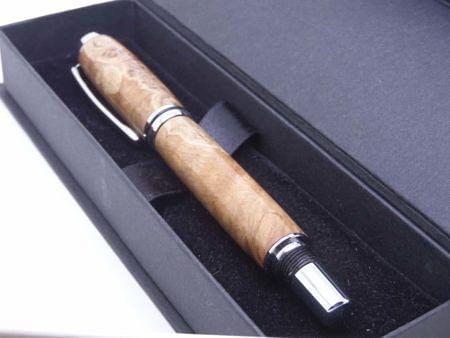 Burl Oak Rollerball Pen
