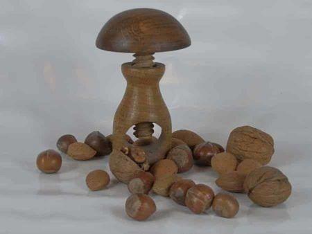 Wooden Mushroom Nutcracker
