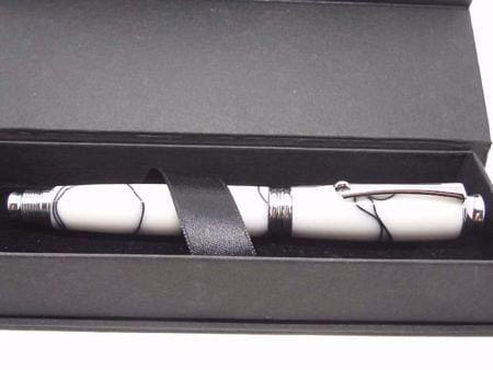 White & Black Rollerball Pen