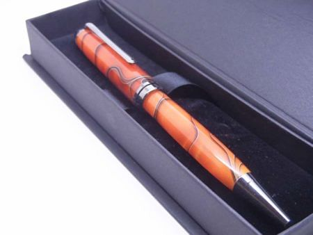 European Orange & Black Pen