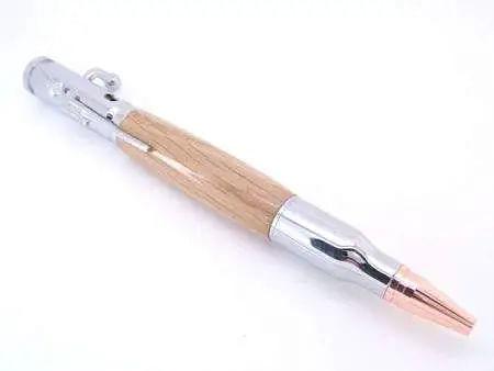 Oak Lustrous Chrome Bullet Pen