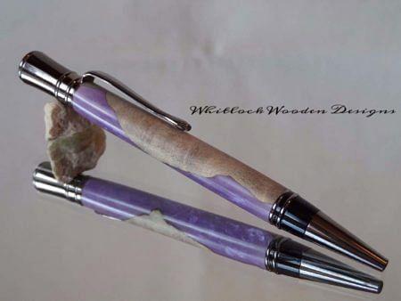 Luxury Hybrid Burl Violet Pen