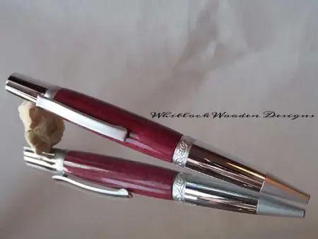 Polished Chrome Purpleheart Pen