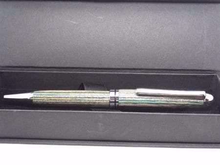 European Green Striped Ballpoint Pen