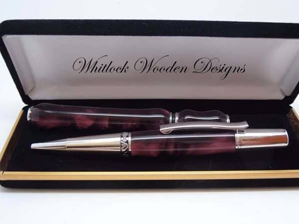 Burgundy Designer Ball Pen Gift SetBurgundy Designer Ballpoint Pen Gift Set