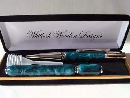 Designer Turquoise Ball Pen Gift Set