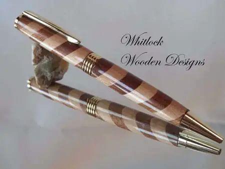 Handmade Barber Pole Pen