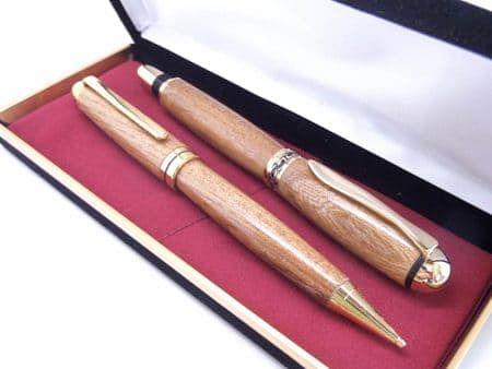 Elm Rollerball Wooden Pen Set