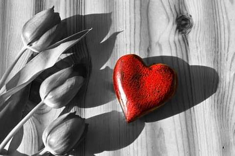 5th year wedding anniversary wooden heart