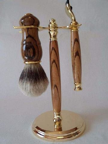 Useful Zebrano Shaving Gift Set
