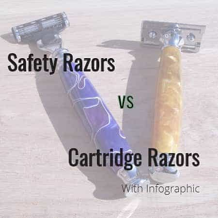 safety razors vs cartridge razors with infographic